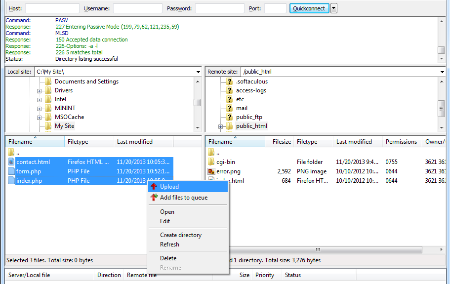 How to use FileZilla FTP Client with WordPress Hosting